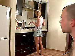 Blonde Chicks With Pigtails Gets Fucked.