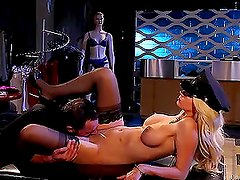 Blonde bombshell Jazy Berlin gets fucked among mannequins