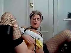 A nasty girl masturbates her pussy in front of the webcam