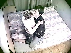 Pantis - A guy fucks his cute girlfriend. She is not aware of the spy cam