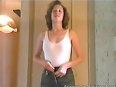 Very nice homemade video of a slim lady getting undressed
