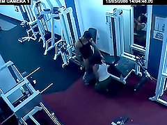 A horny couple tries new fitness equipment in the gym