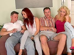 Swinger - Amazing orgy video with two couples fucking together