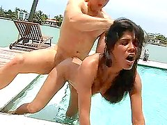 Big-Tit Nudist Chick Blows And Gets Fucked By The Poolside.
