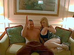 Lucky Day in Vegas to win a petting and blowjob from two hotties
