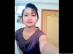 Homemade amateur video of hot thai babe showing striptease