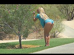 Ashley loves walking outside nude or in sexy outfit and masturbating