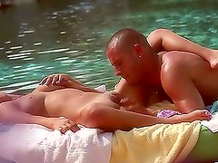 Sweet babe Alanna Anderson gets fucked in a rubber boat
