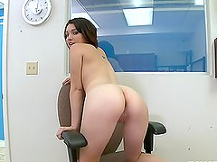 Horny brunette is casted in Hallywood and fucked