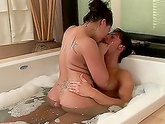 Horny couple practises 69 during a terrific massage