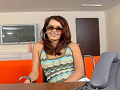 Glamorosas - Sexy tattooed brunette gets fucked in the office