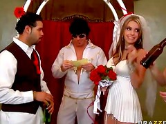 Wedding dress babe fucked by Elvis