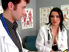 Doctor roughly fucks patient ass