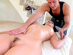 Busty Asian Gets Cocked During Sexy Naked Massage.