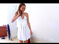 Rileyr2 changes her dress revealing her slim sexy body