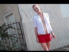 Kasey loves red color, it fits her and makes her horny