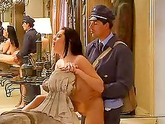 Horny Brunette Houswife Having Sex with the Postman