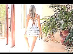 Young teen Amie loves ballet dancing and she's rehearsing nude