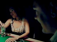 Lady May Racks Some Balls In A Threesome On Top A Pool Table