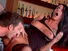 Brunette Cock Block Sea J Raw Gets Cock Rocked in the Club