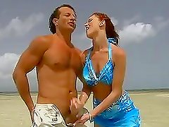 Redhead Donna MArie Gets Fucked in the Shore and Anal Sex on a Boat