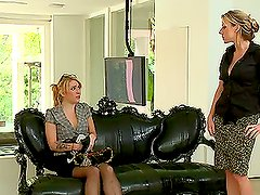 A Rough Anal Strapon Experience Between Two Hot Blonde Lesbians