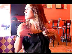 Horny Babe Gets Bored and Masturbates in a Public Place
