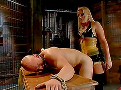 Hot Femdom Scene With A Gorgeous Blonde