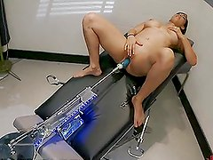 Big Boobed Babe Taking Machine From All Angles