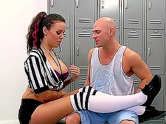Referee With Big Tits Emily Parker Fucks Player