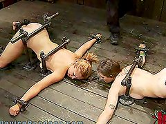 Two Submissive Girls Suffering the Extreme Bondage