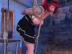 Busty Redhead Gets Her Anus Widened With Dildo Before Getting Fucked