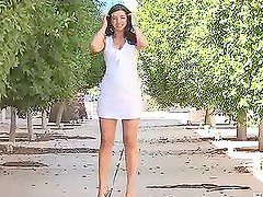 Naughty Madeline Masturbating Out on The Streets in Public
