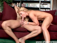 Juicy big tits blonde impaled on a thick big dick