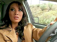 Asa Akira Gets Covered With hot Cum in A Threesome