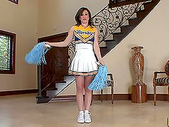 Cheerleader Twists Herself Up To Suck and Fuck a Dick