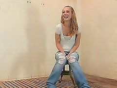 Amazing Fucking Machines Scene With A Horny Blonde