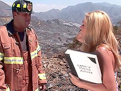 Blazing Hot Blonde Angela Attison Gets Fucked by a Firefighter