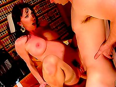 Brunette MILF Rayveness Gets Raunchy in the Office