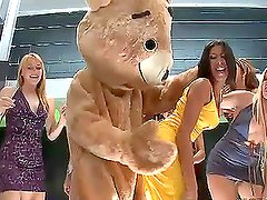 Dancing Bear Fucks Latina Kayla Carrera in Hot Bachelorette Party