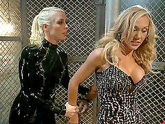 Busty Blondes in Tough Prison Sex