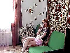Exotic Chick Banging on the Couch