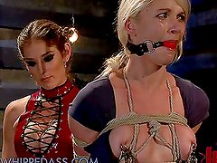 Blonde and Brunette Fuck in the Dungeon