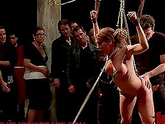 Submissive Brunette Will Get Aroused in Public