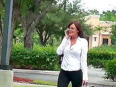 Hot Brunette MILF with Big Tits Getting Fucked in Different Positions