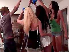 Blonde Slut Haley Cummings Having Sex in College Party