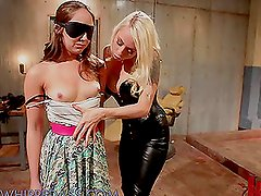 Sex Slave Gets Face Sitted and Anal Strapon Fucked By Dominatrix