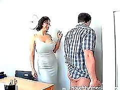 Mature Cynthia Pendragon Gets Drilled By a Job Applicant