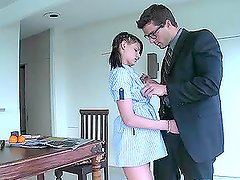 Beautiful Brunette Maid Kyle Moore Gets Fucked By Her Employer
