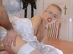 Hot Blonde Bride Dora Venter Gets It In The Ass